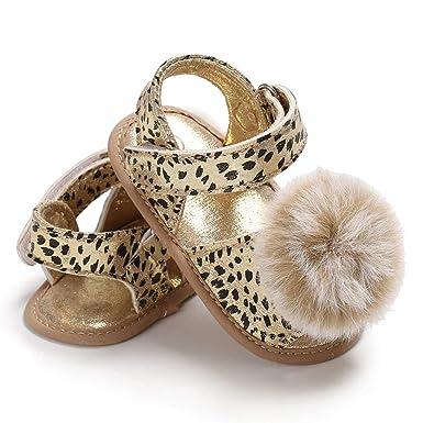 Baby Kids Girls Sandals Summer Children Antiskid Leopard PU Leather Shoes