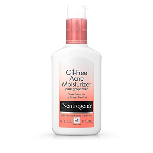 Neutrogena Oil-Free Facial Acne Moisturizer With Salicylic Acid, Pink Grapefruit, 4 Fl. Oz.