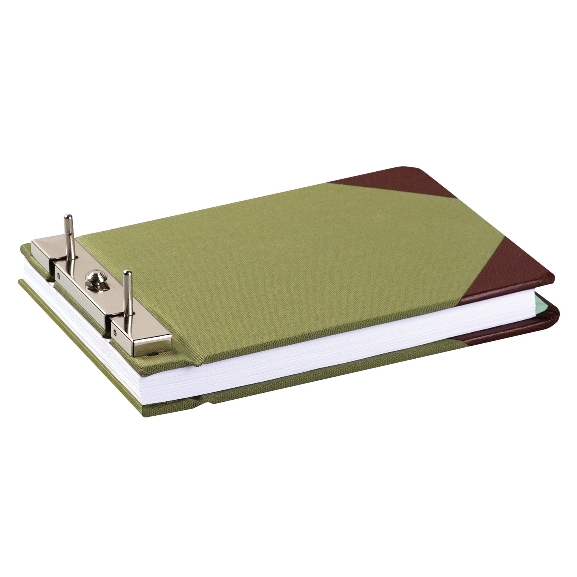 Wilson Jones Canvas Sectional Storage Post Binder For 8-1/2 X 5-1/2 Sheets, 2-3/4'' Post Spacing, Green Canvas, W278-05A by Wilson Jones