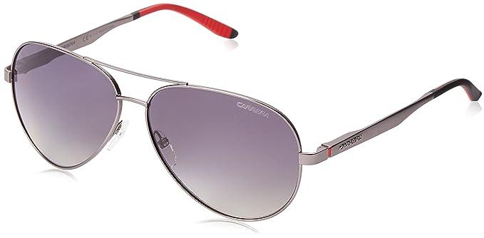 Carrera ca8010s polarizadas gafas de sol de aviador, Gris (Semi Mat Dark Ruthenium &