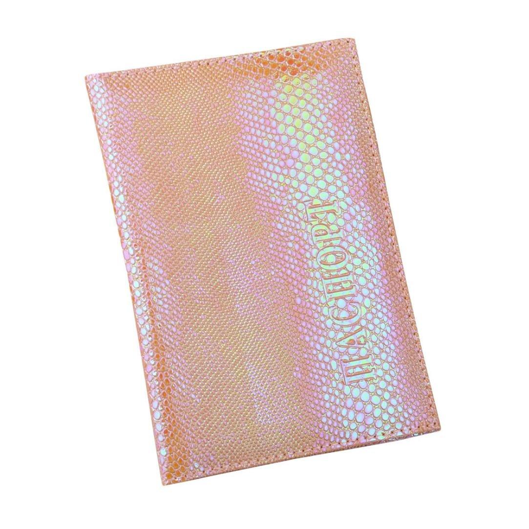 ファッション メンズ レディース シャイニースパンコール パスポートホルダー プロテクター 名刺 レザー クレジットカードホルダー ケースカバー  イエロー B07D7V5N25