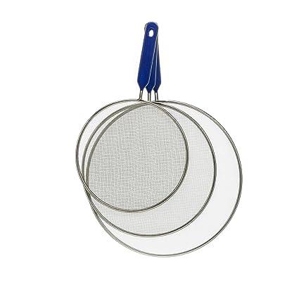 Tip Sartenes Protección contra salpicaduras, 3 piezas Set, acero inoxidable, diámetro: 20