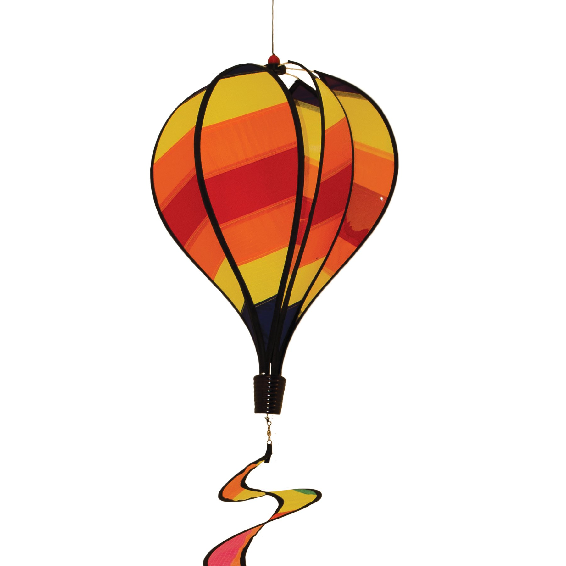 In the Breeze Hot Stripe Hot Air Balloon Wind Spinner