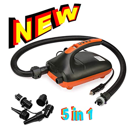 12V 20PSI Dual Stage Electric Air Pump for Inflatable Boat SUP High Pressure New