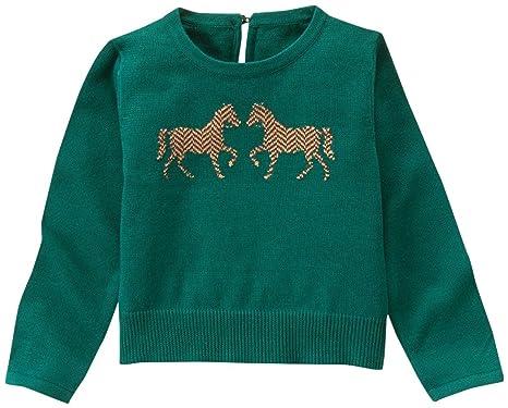 c878448d4618ee Amazon.com: Janie & Jack Girls' Horse Intarsia Sweater: Clothing