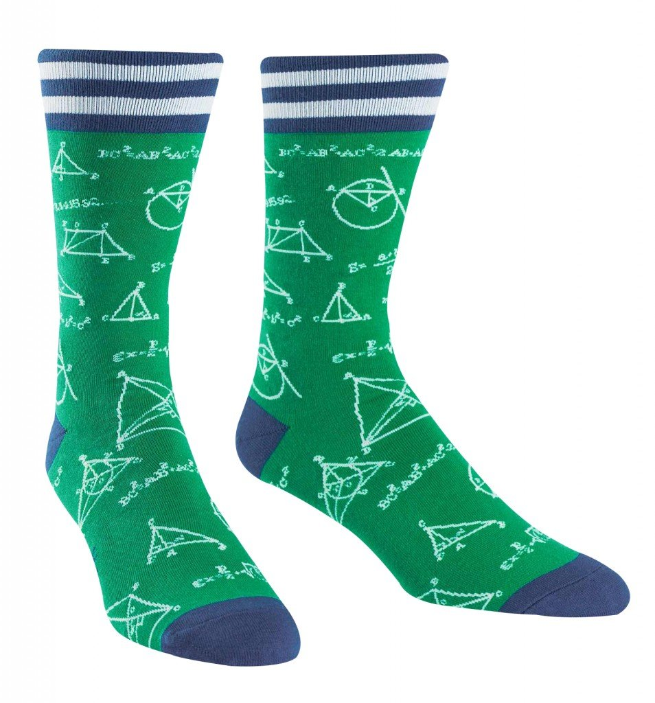 Sock It To Me Mathlete Men's Crew Socks MEF0205