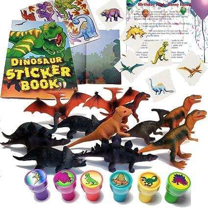 Amazoncom Dinosaur Birthday Party Favors for 12 12 Dinosaur