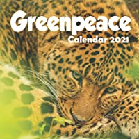 """Greenpeace: 2021 Wall Calendar - 8.5""""x8.5"""", 12 Months - Standing Up for The Earth"""