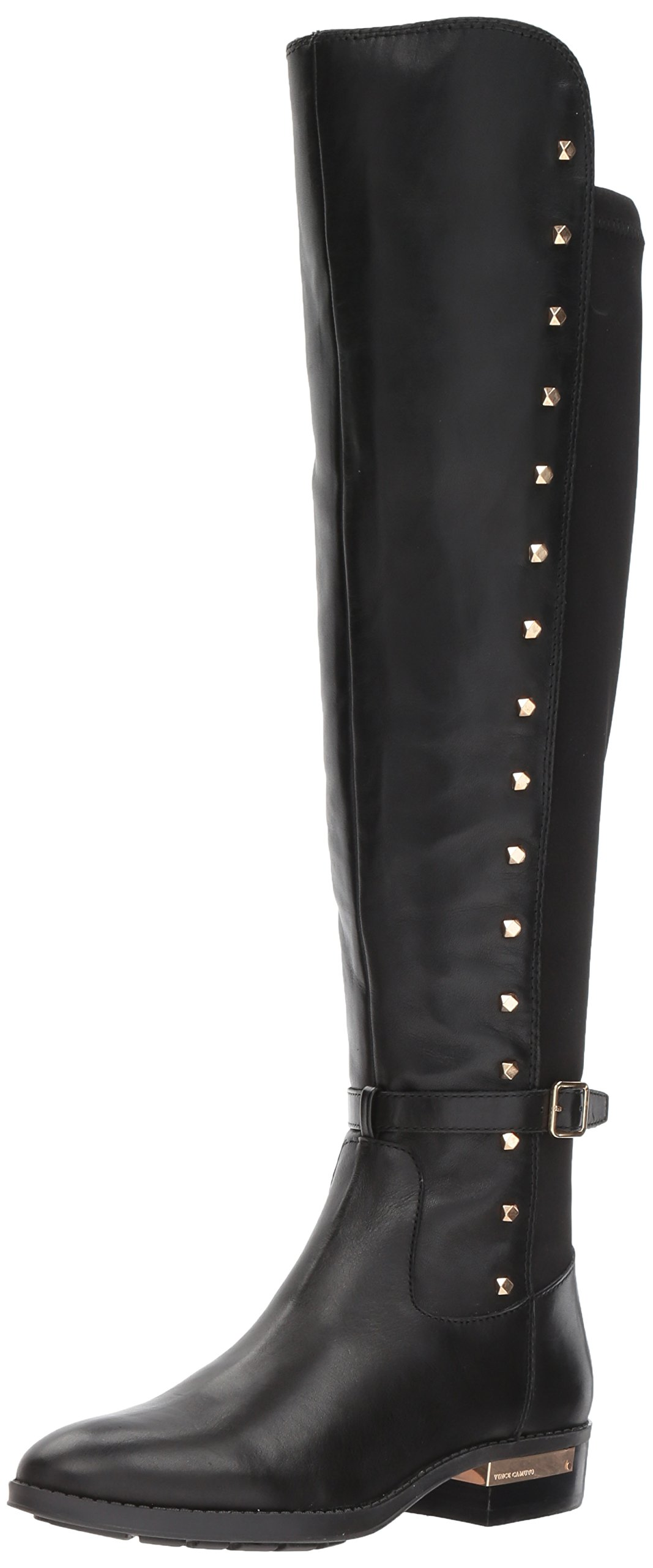 Vince Camuto Women's Pelda Over The Knee Boot, Black, 8.5 Medium US
