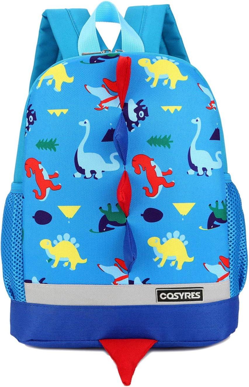 Cosyres Dinosaurios Mochila para Niños Infantil Guarderia Mochila Escolar (Azul)