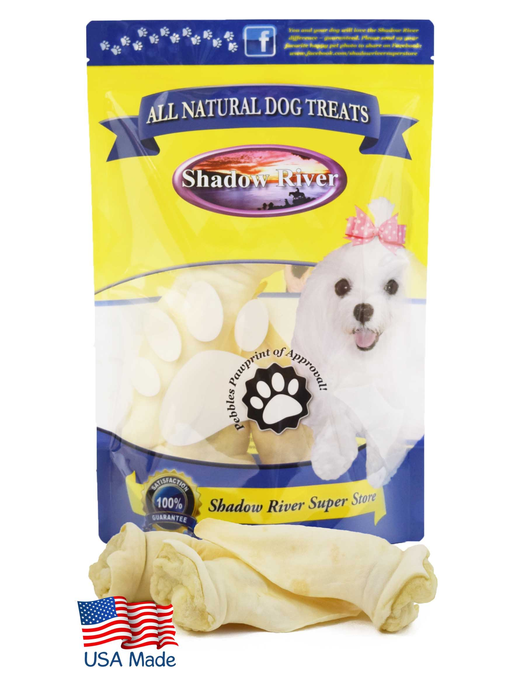 Shadow River Lamb Ear Chews for Dogs - Premium All Natural Treats - 20 Pack Large Full Size Ears