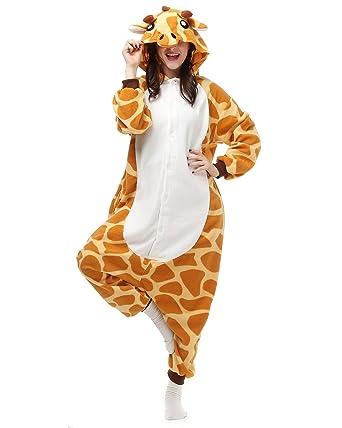 Adults Onesies - Animal Women Mens Giraffe Onesie Costumes Cosplay Outfit Pajamas Small  sc 1 st  Amazon.com & Amazon.com: Adults Onesies - Animal Women Mens Giraffe Onesie ...