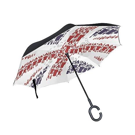 7cf1f69f7f70 Amazon.com: All agree Inverted Reverse Umbrella Union Jack Candle ...