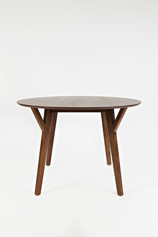 Amazon Com Benzara Bm183993 Wooden Round Dining Table With Slanted