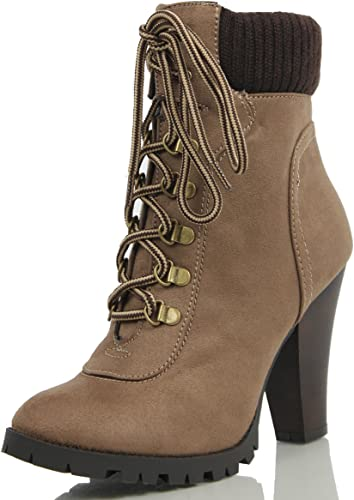 Soda Women's Rouge Faux Suede Lace Up