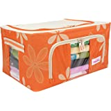 BlushBees® Living Box - Storage Boxes for Clothes, Shirts, Saree Cover - 24 Litre, Pack of 1, Orange