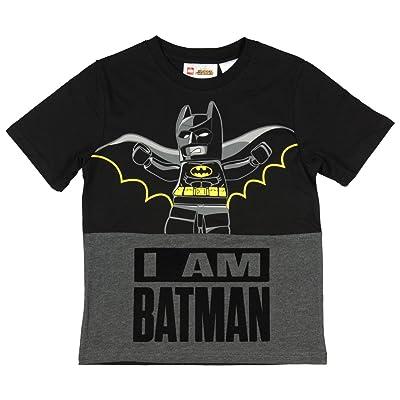 Lego Batman I Am Batman Boys Short Sleeve Shirt (Large 10/12): Clothing