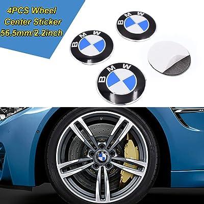 JYMAOYI for BMW Wheel Sticker, 4PCS Car Wheel Center Hub Cap Logo Aluminium 56.5mm/2.2inch for Most BMW …: Automotive