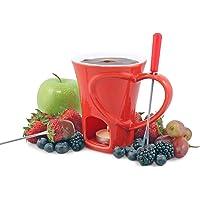 Swissmar F12066 4-Piece Sweetheart Chocolate Fondue Mug Set