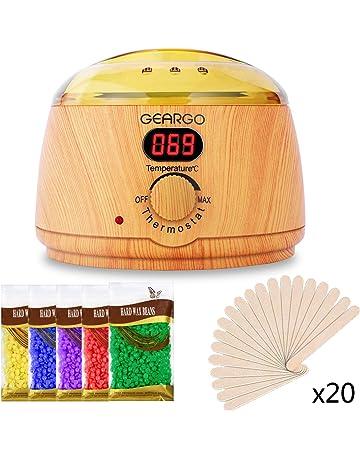 GEARGO Calentador de Cera con Pantalla LCD, Kit de Depilación Eléctronico con Cera, 500ml