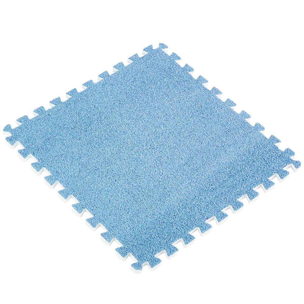 Longay 30x30cm Kids Carpet Foam Puzzle Mat EVA Ant Velvet Baby Eco Floor 8 Colors (D)