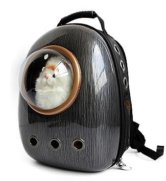 Astronauta Cápsula Mochila para mascotas Aerolínea Aprobado Transparente Respirable Venthole Perro Portador de gato Bolso portátil Viaje al aire libre ...