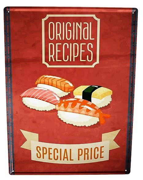 Cartel Letrero de Chapa XXL Cocina Sushi: Amazon.es: Hogar