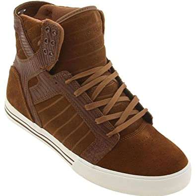 4851633164 Image Unavailable. Image not available for. Color: Supra Skytop (Brown Suede /Brown ...