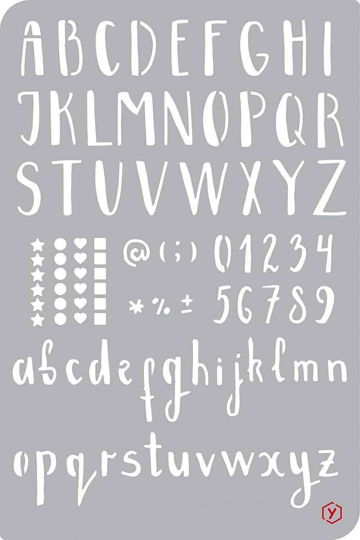 Pochoir pour bullet journal /« Alphabet /» format 12 x 18 cm