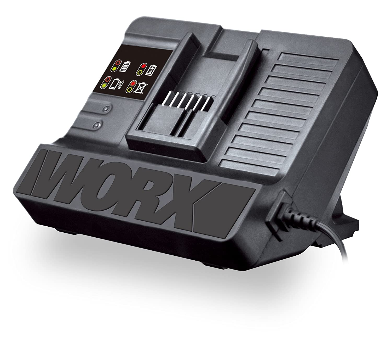 WORX WA3847 20-Volt Lithium Quick Charger for use with WORX 18V or 20V Batteries (2.0Ah, 4.0Ah, or 6.0Ah)