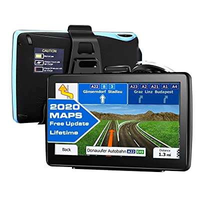 GPS Navigation for All Type of Vehicles,e.g Cars,Trucks,Motorhome etc,7 inch Large-Size Screen with Sun Shielding Frame 8GB&256MB HDD,Voice Turn- to-Turn Traffic Indication,Lifetime Free Map Updates: GPS & Navigation