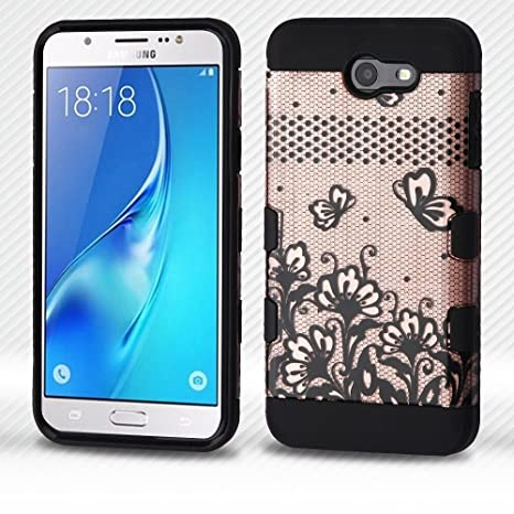 Amazon.com: Para Samsung Galaxy J7/Halo Tuff Trooper híbrida ...