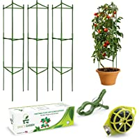 Grae's Garden Jaulas de tomate y soportes para jardín, paquete de 3 estacas y soportes para plantas, peonías y verduras…