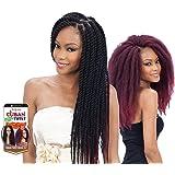 "Freetress Equal Synthetic Hair Braids Havana Twist Style Cuban Twist 16"" (99J) by Milky Way"