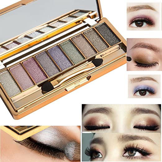 Bright Professional New Fashion Shimmer Shine Eyeshadow Brand Make Up Smoky Black Blue Dark Red Glitter Eye Shadow Makeup Palette Quality First Beauty Essentials