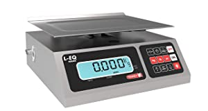 TORREY LEQ 10/20 High Precision Digital Portion Control Scale, Stainless Steel Construction, 10 kg/20 lb. Capacity