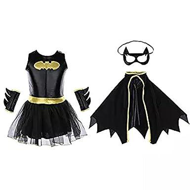 Halloween Cosplay Costume Super Heroes Child Teen Batgirl Costume Set Halloween Costumes for Girls (L  sc 1 st  Amazon.com & Amazon.com: Halloween Cosplay Costume Super Heroes Child Teen ...