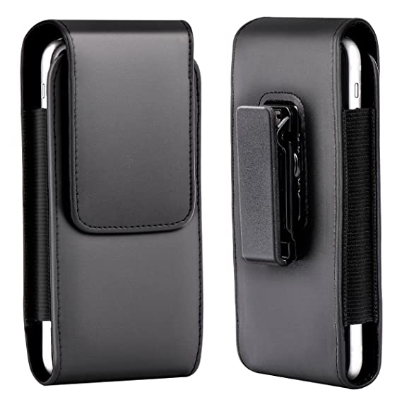 new style 15295 84099 xhorizon SR Leather Vertical Holster Case Pouch Bag with Rotating Belt Clip  for iPhone 6 Plus/6S Plus