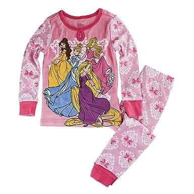 Disney Store Princess PJ Pajamas Cinderella Aurora Rapunzel Size S 5 5T