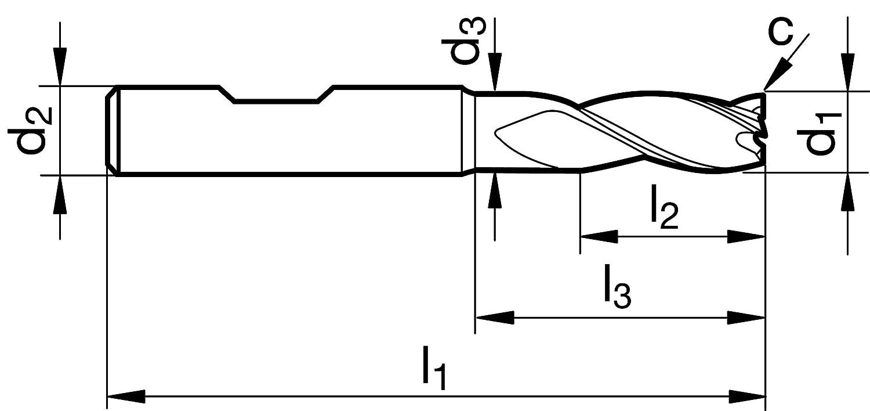 Schaftfr/äser VHM High Performance f/ür ALUMINIUM mit ungleicher Steigung mit HB Spannfl/äche deutsches Qualit/ätsprodukt