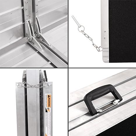 Amazon.com: jaxpety 10 Ft rampa Plegable Carga Silla de ...