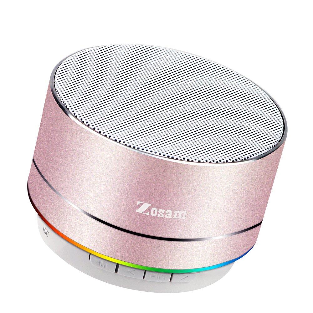 Zosam Portable Wireless Bluetooth Speaker Superb rosa