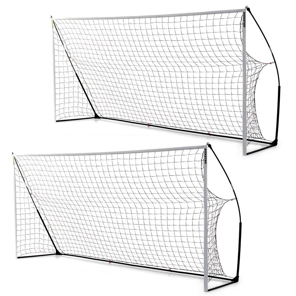 クイックプレイ ポータブル サッカーゴール 3.6m×1.8m 2台セット プレゼント付き 組み立て式ゴール B00H7HZY9Q