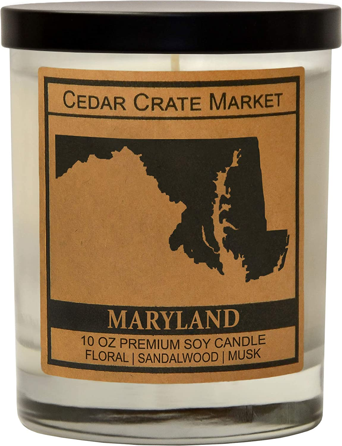 Maryland State Candle Gift, Show Your Home State Pride and Your Love for Your Hometown, Wherever You May be, Our State Candle Will Remind You of Home,House WarmingGifts for New Home,USA