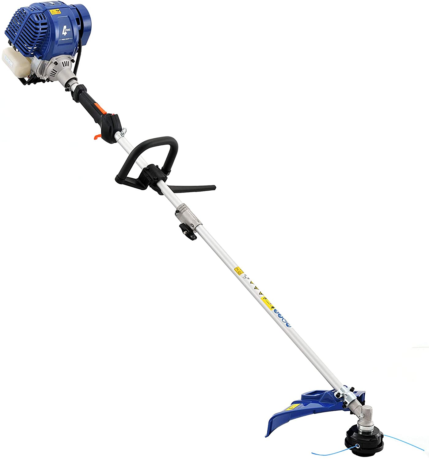 Wild Badger Power 31 cc Gas 4-Cycle 2-in-1 Straight Shaft Trimmer with Brush Cutter