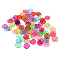 MagiDeal 100pcs Gaming Chips Disc w/ Metal Edge for Children Childhood Scientific Aid