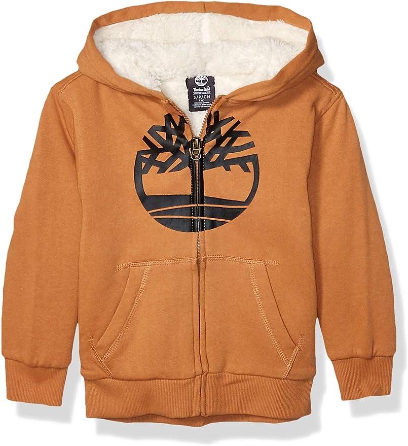 Timberland 添柏岚 仿羊羔绒 男童连帽保暖卫衣 3.4折$19.99 海淘转运到手约¥167