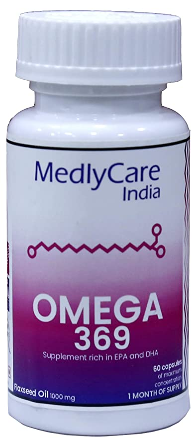 Medlycare India Omega 3 6 9 For Cardiovascular Health 500 Mg