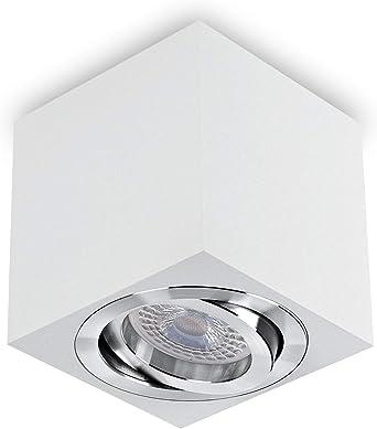 2er Set RGB LED Aufbau Strahler Küchen Wand Lampen dimmbar Big Light