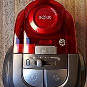 Solac AS3244 Aspirador sin bolsa Apollo Cyclonic AAA, 800W, Filtro HEPA, depósito de 2 L, sistema de filtración ciclónico de 3a generación, Rojo y Negro: Amazon.es: Hogar